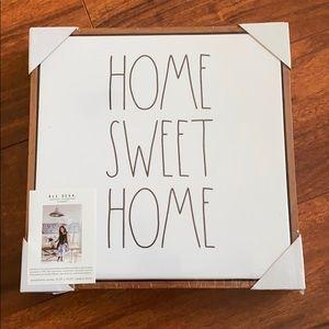 NEW Rae Dunn Home Sweet Home Canvas